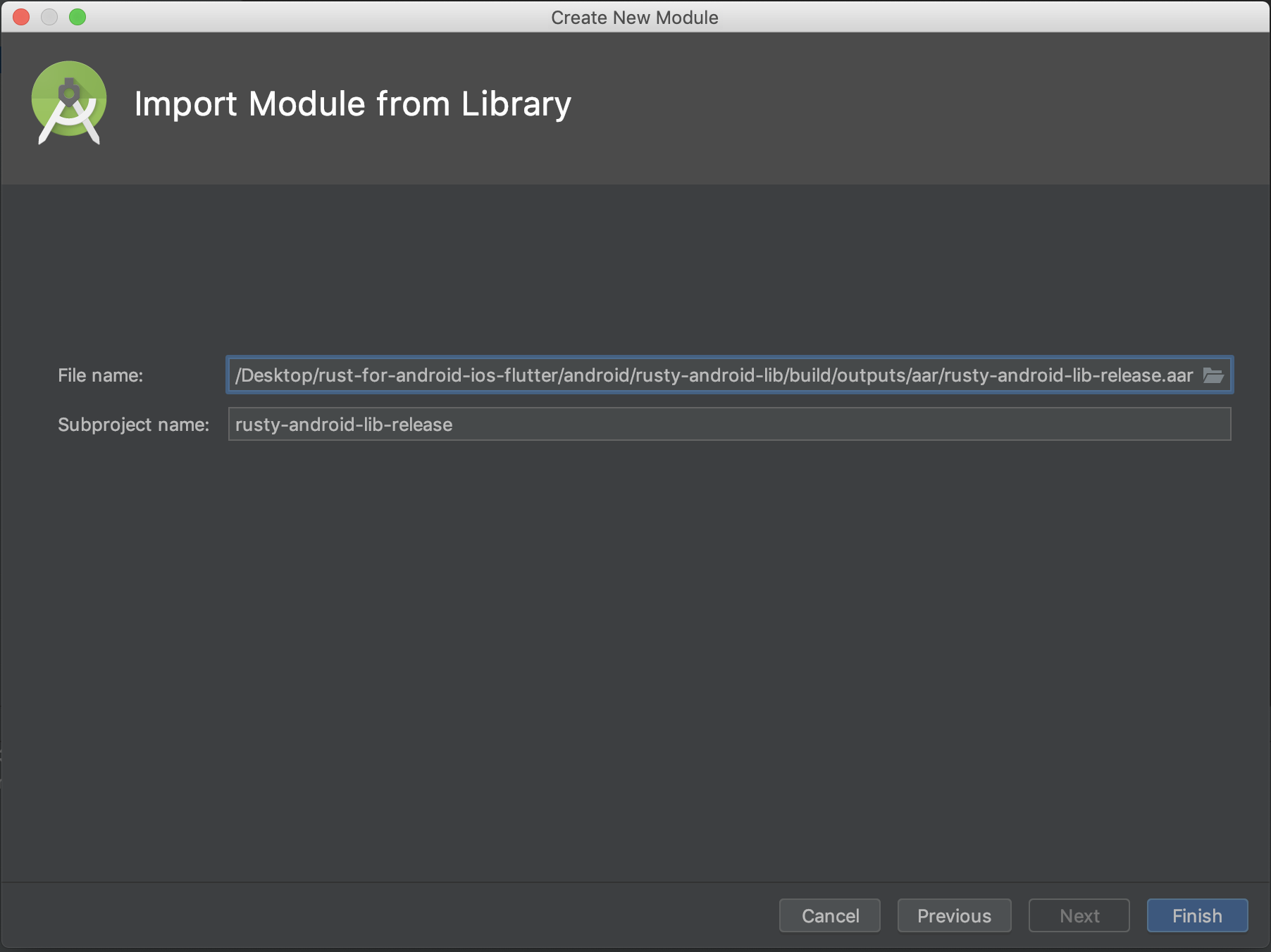 Importing the Android Library